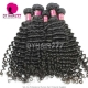 3 or 4 pcs/lot Royal Brazilian Virgin Deep Curly Hair Extensions Natural Color