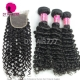 Best Match Top Lace Closure With 3 or 4 Bundles Malaysian Deep Curly Royal Virgin Human Hair Extensions