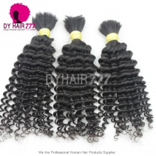 Color1B# Unprocessed Brazilian 100% Virgin Hair Deep Curly Wave Bulk Price