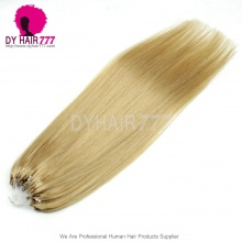Micro Rings/Loops Brazilian Human Hair Extension Color 27# 100g