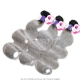 Royal 1 Bundle Cambodain Virgin Hair Body Wave Ombre Silver Grey Hair Extensions