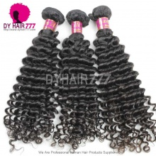 Royal Brazilian Virgin Deep Curly Hair Extensions Natural Color Human Hair Deep Curly Style