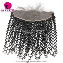 Ear to Ear 13*4 Lace Frontal Closure Virgin Human Hair Deep Curly Natural Color