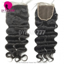 Lace Top Closure (4*4) Loose Wave Human Virgin Hair Freestyle Free Part Middle Part Two Part Three Part