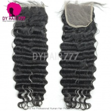 Lace Top Closure (4*4) Deep Wave Human Virgin Hair Freestyle Free Part Middle Part Two Part Three Part