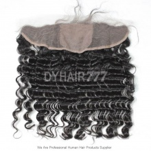 Silk Base Frontal (13*4) Deep Wave Virgin Human Hair Top Closure