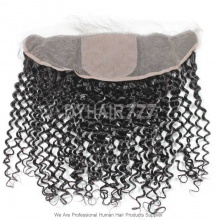 Silk Base Frontal (13*4) Deep Curly Wave Virgin Human Hair Top Closure