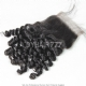 Lace Top Closure (4*4) Spiral Curly Wave Human Virgin Hair Freestyle Free Part Middle Part Two Part Three Part