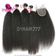 Best Match Royal 3 or 4 Bundles Burmese Virgin Hair Kinky Straight With Top Lace Closure Hair Extensions