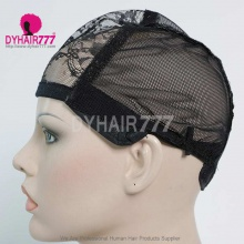 Adjustable Wig Cap with straps 1PCS Black/Gold color (leave message of color , or by random)