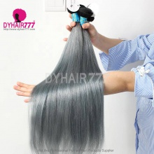Royal Grade Customize Straight Bundle Ombre Grey Color Virgin Human Hair 7-10 Days Ready