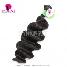 1pc Wholesale Remy Hair Extension Brazilian Standard Loose Wave Unprocessed Human Hair Loose weaving weft