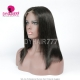 150% Density Blunt Wig Centre Part Short Bob Wig Straight Hair 100% Human Hair Natural Color