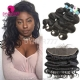 Lace Frontal With 3 Bundles Peruvian Body Wave Standard Virgin Hair Human Hair Extenions