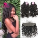 Lace Frontal With 3 Bundles Royal Virgin Brazilian Natural Wave Human Hair Extensions