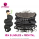 Lace Frontal With 3 Bundles Indian Body Wave Standard Virgin Hair Human Hair Extenions