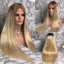 Full Lace Wig 180% Density Human Hair Natural Color Customize Wig 7 Working Days Ready STBB24-F