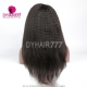 130% density Royal Virgin Human Hair Kinky straight Hair Lace Front Wigs Natural Color