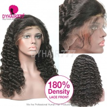 180% density Top Quality Virgin Human Hair Loose Wave Lace Front Wigs