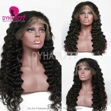 1B# Top Quality Virgin Human Hair Loose Wave Lace Frontal Wigs