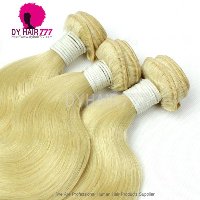 3 Or 4 Pcslot European Virgin Hair Weave Color 613 Bleach Blonde