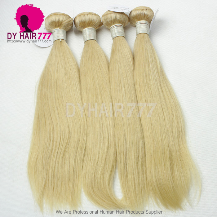 3 Or 4 Bundles Deals Color 613 Bleach Blonde European Human Hair
