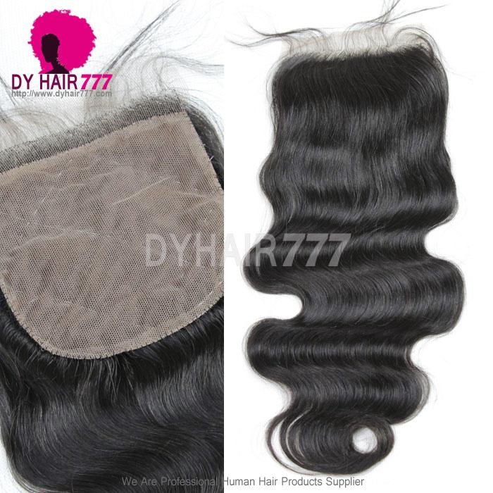 Silk Base Closure 44 Body Wave Virgin Hair Top Closure Freestyle