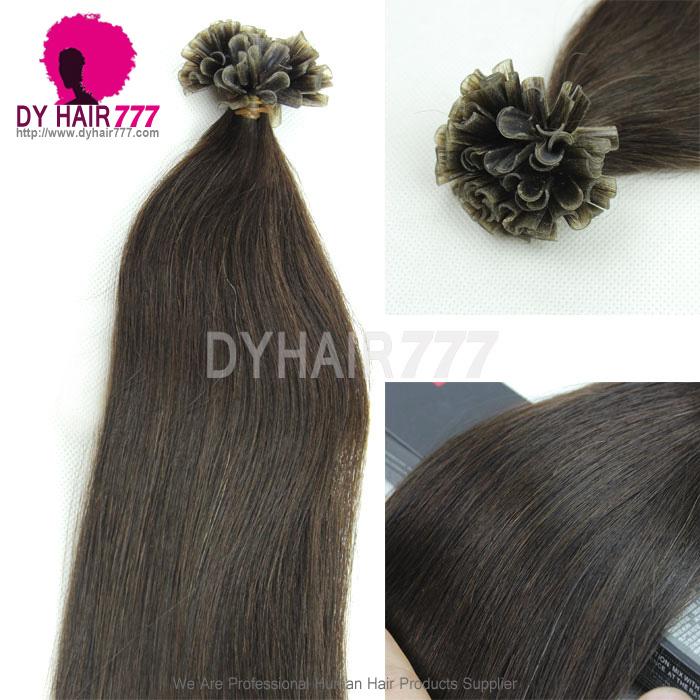 2 U Tip Straight Hair Extensions Grade 6a Virgin Hair 100g Virgin