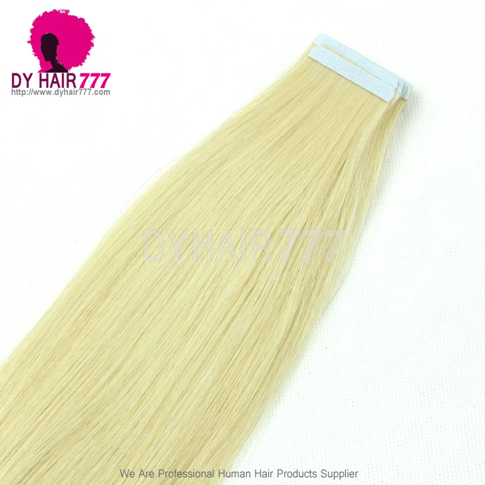100 Unprocessed With Cuticle 613 Tape Hair Extension Straight