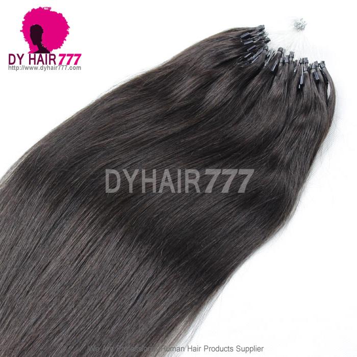 Micro Ringsloops Brazilian Human Hair Extension Color 1b 100g