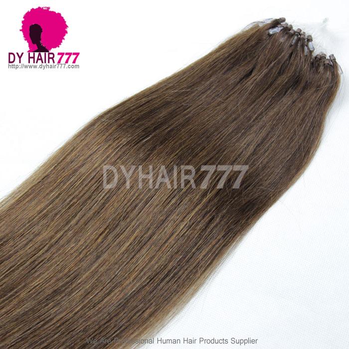 Micro Ringsloops Brazilian Human Hair Extension Color 4 100g