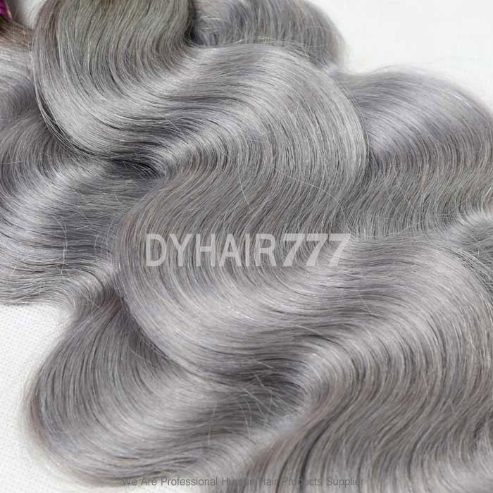 Royal 1 Bundle Brazilian Virgin Hair Body Wave Ombre Silver Grey