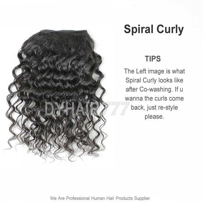 Royal 3 Or 4 Bundles Deal European Hair Spiral Curly Virgin Hair