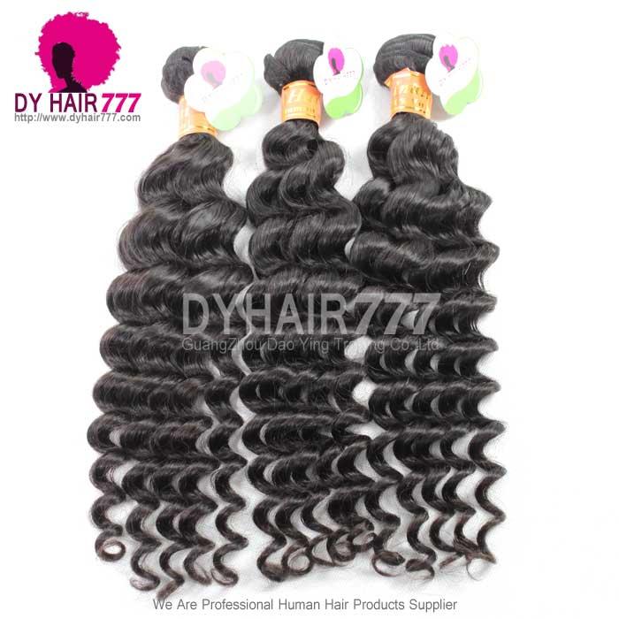 1 Bundle Cheap Indian Standard Hair Weaving Deep Wave 100 Human
