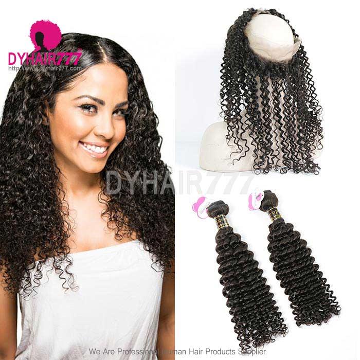 Royal Grade 2 Or 3 Bundles Virgin European Deep Curly With 360 Lace