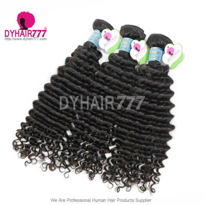3 Or 4pcslot Peruvian Standard Deep Curly Virgin Hair Extensions