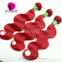 1 Bundle Fashion Red Color European Remy Hair Extensions More Wave Rihanna Superstar Style