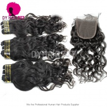 Best Match Top Lace Closure With 3 or 4 Bundle European Natural Wave Royal Virgin Human Hair Extensions