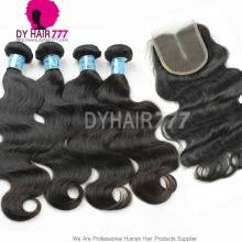 Unprocessed Best Match Top Lace Closure With 4 or 3 Bundles Royal Virgin Peruvian Body Wave Human Hair Extensions