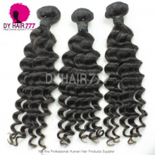 3 or 4pcs/lot Unprocessed Standard Peruvian Virgin Hair Deep Wave Human Hair Extensions
