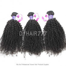 3 or 4 Bundles Royal Virgin Cambodian Kinky Curly Hair Weft 100% Unprocessed