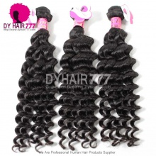3 or 4pcs a lot Royal Malaysian Virgin Hair Deep Wave Human Hair Extension