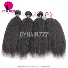 European Virgin Kinky Straight Hair Royal Grade 3 or 4 Bundles Human Hair Extension