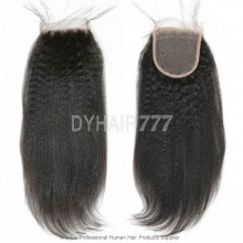 Lace Top Closure (4*4) Kinky Straight Virgin Human Hair