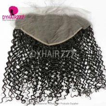 Ear to Ear 13*6 Lace Frontal Closure Curved Lace Deep Curly Human Virgin Hair Natural Color