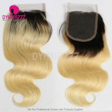 Lace Top Closure (4*4) Body Wave 1B/613 Human Virgin Hair