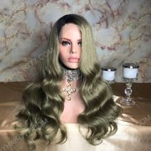Lace Front Wig 200% Density Human Hair Customize Wig 7 Working Days Ready GCBW45-L