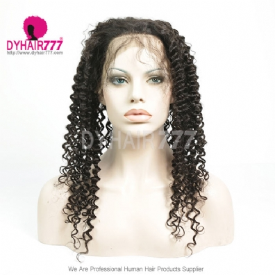 360 lace band frontal bleached knots virgin human hair