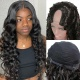 130% Density #1B Virgin Human Hair U Part Wigs Loose Wave Lace Front Wig