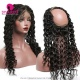 360 Lace Band Frontal Bleached Knots Virgin Human Hair Deep Wave With Baby Hair